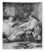Carl Linnaeus, Swedish Botanist Fleece Blanket