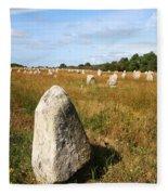 Carnac Standing Stones Fleece Blanket