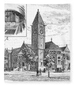 Carnegie Library, 1890 Fleece Blanket