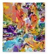 Carnival Abstract 082512 Fleece Blanket