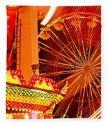 Carnival Lights  Fleece Blanket