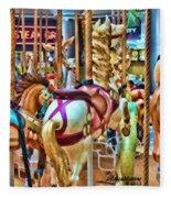 Carousel 7 Hdr Fleece Blanket