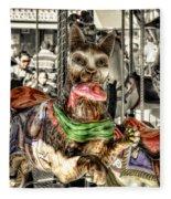 Carousel Cat Fleece Blanket