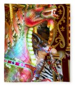 Carousel Dragon Fleece Blanket
