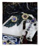 Carousel Horse - 9 Fleece Blanket