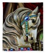 Carousel Horse 3 Fleece Blanket