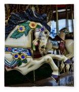 Carousel Horse 5 Fleece Blanket