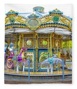 Carousel Ride In Pittsburgh Pennsylvania Fleece Blanket