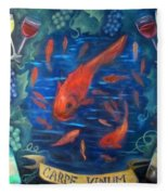 Carpe Vinum Fleece Blanket