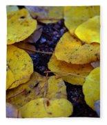Carpet Of Gold Fleece Blanket
