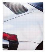 Carrera Porsche White Backend  Fleece Blanket