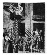 Carriage Cartoon, 1776 Fleece Blanket