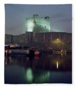Carrickfergus Castle & Harbour, Co Fleece Blanket