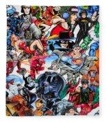 Cartoon Car Detail Fleece Blanket