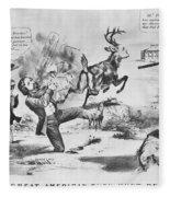 Cartoon: Election Of 1856 Fleece Blanket