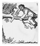 Cartoon: Secession, 1861 Fleece Blanket