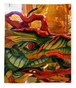 Carved Dragon Fleece Blanket