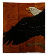 Carved Eagle Fleece Blanket