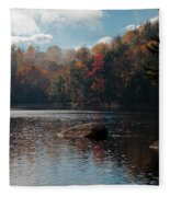 Cary Lake In The Adirondacks Fleece Blanket