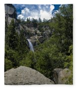 Cascade Falls Yosemite National Park Fleece Blanket