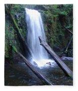 Rainforest Waterfall Cascades Fleece Blanket