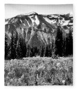 Cascade Mountain Range Fleece Blanket