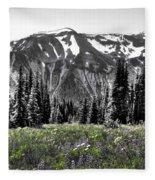Cascade Range Meadow Fleece Blanket