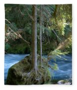 Cascade Rapids Fleece Blanket