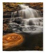 Cascading Swirls Fleece Blanket