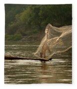 Casting A Net Fleece Blanket