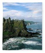 Castle At The Seaside, Dunluce Castle Fleece Blanket