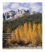 Castle Crags Autumn Fleece Blanket
