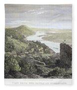 Castle Donaustauf, 1823 Fleece Blanket