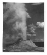 Castle Geyser Yellowstone Fleece Blanket