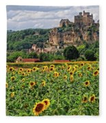 Castle In Dordogne Region France Fleece Blanket