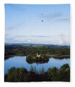 Castle Island, Lough Key Forest Park Fleece Blanket