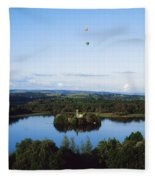 Castle Island, Lough Key Forest Park Fleece Blanket