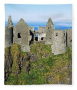 Castle On A Cliff, Dunluce Castle Fleece Blanket