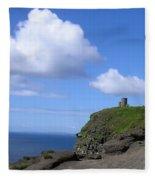 Castle On The Cliffs Of Moher Fleece Blanket