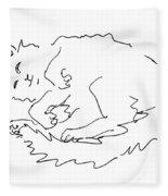 Cat-drawings-black-white-1 Fleece Blanket
