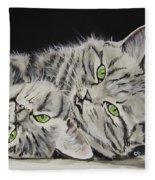 Cat Friends Fleece Blanket