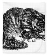 Cat-tabby-posters-1 Fleece Blanket