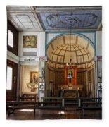 Cataldo Mission Altar And Interior Fleece Blanket
