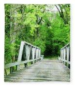 Catalpa Plantation Bridge Fleece Blanket
