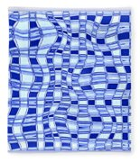 Catch A Wave - Blue Abstract Fleece Blanket