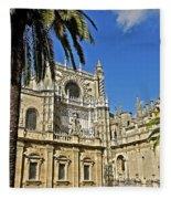Catedral De Santa Maria De La Sede - Sevilla Fleece Blanket