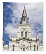 Cathedral Of Saint Louis Fleece Blanket