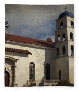 Catholic Church Old Town San Diego Fleece Blanket