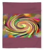 Cat's Tail In Motion. Stained Glass Effect. Fleece Blanket