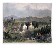 Catskill Village, 1839 Fleece Blanket